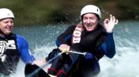 Frank Gardner water skiing