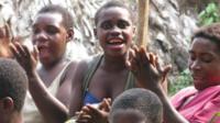 Bayaka women singing in Central Africa