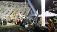 The rescue operation at the site of a collapsed building in the southern Taiwanese city of Tainan
