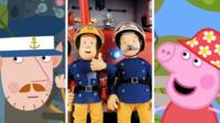 Ben and Holly, Fireman Sam and Peppa Pig collage