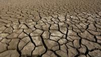 Dried out sea bed of the Soyang River in Chuncheon, South Korea