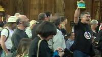Central Lobby protest
