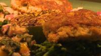Shellfish on plate