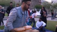 Muslims in Manchester break their fast