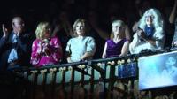 Take That's mums attend musical