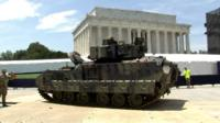Tanks on national mall