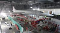 The new home of Concorde 216 is a World War I aircraft hangar at Filton airfield