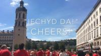 Wales fans in Lyon