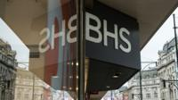 BHS Shop sign