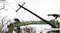 Damaging winds bring down telephone poles