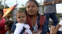 Hundreds of Honduran immigrants are at the Mexico-Guatemala border