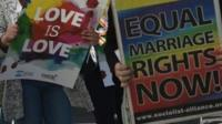 Gay marriage supporters in Sydney - file image