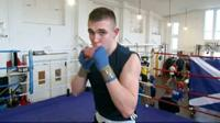 BBC Young Reporter Rhys boxing