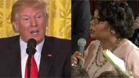 US President Donald Trump and Journalist April Ryan