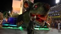 Giant rat at Rio Carnival