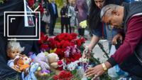 Импровизированный мемориал в Керчи