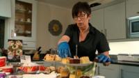 Tina Riches preparing food
