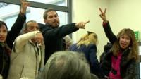 Greek protestors in court