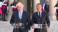 Boris Johnson & Emmanuel Macron