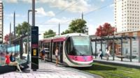 Future tram site
