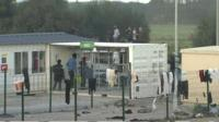 Young people at migrant camp in Calais