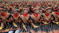 Saman dancers in Indonesia