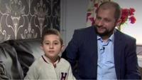 Khaled Kara Hasan and son