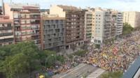 Marchers in Barcelona, 18 October