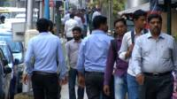 Pedestrians in Hyderabad