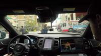 Inside Uber self-drive car