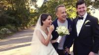 Elisabeth, Tom Hanks and Ryan.