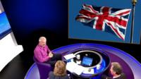 Daily Politics panel with Union flag