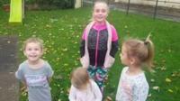Children in back garden