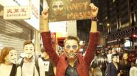 Протестный Хэллоуин в Гонконге