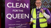 Michael Gove at the Clean for the Queen launch.