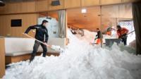 Snow inside Hotel Säntis