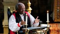 Bishop Michael Curry delivers a sermon at the royal wedding.