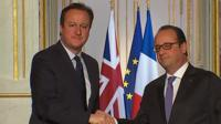 David Cameron and President Hollande