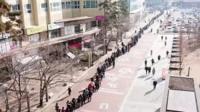 Очередь за медицинскими масками в Южной Корее