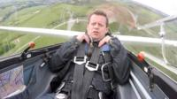 Mike Bushell in a glider