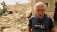 Jeremy Bowen reporting from a bomb-damaged Damascus