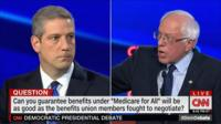 When challenged on the details of his healthcare plan, Medicare for All, the Vermont senator shot back.