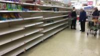 Food banks say they have a shortage of basic items because shoppers are stockpiling as fears grow over the spread of coronavirus.