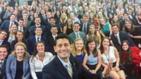 Paul Ryan selfie