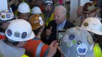 During a Michigan campaign stop, Joe Biden appeared to threaten a factory worker as they had a heated argument.