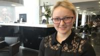 Holly Jenkins, an apprentice hairdresser