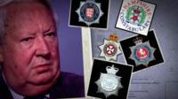 Sir Edward Heath and police badges