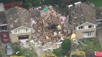 House explosion in Haxby
