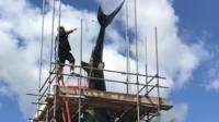 Headington shark repainting