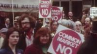 Unions backing a no vote in 1975 EEC referendum